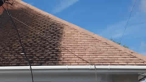 roof cleaning in the West Sussex area