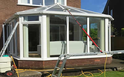 upvc cleaning conservatory cladding and roofline cleaning West Sussex